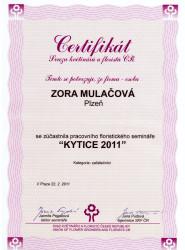 certifikat-zora-mulacova-kytice-2011