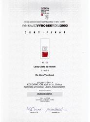 certifikat-zora-mulacova-vyrobek-roku-2003